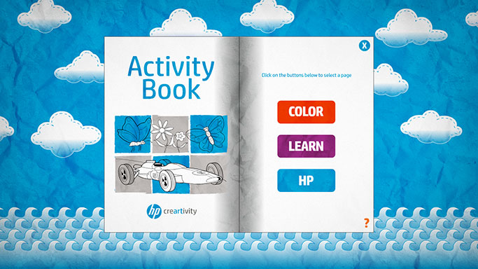 Screenshot of HP Creartivity